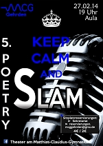 Plakat Poetry Slam 2014